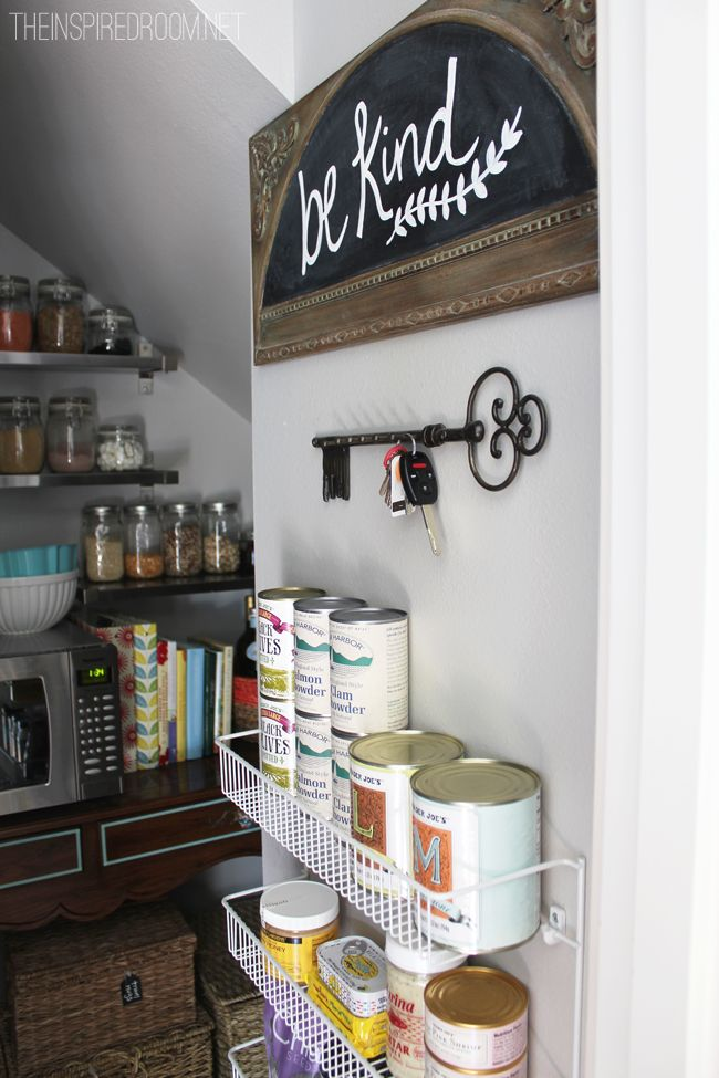 Cute pantry makeover with lots of organizing tips and ideas!