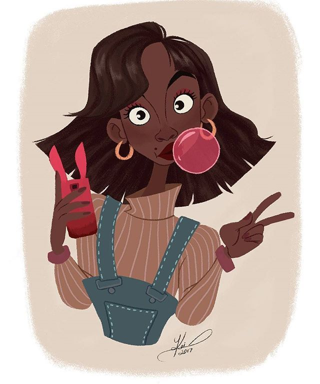 Bubbles!  #characterdesign #characters #girlsinanimation #portfolio #animation #art #originalcharacter #visdev #visualdevelopment #bubblegum