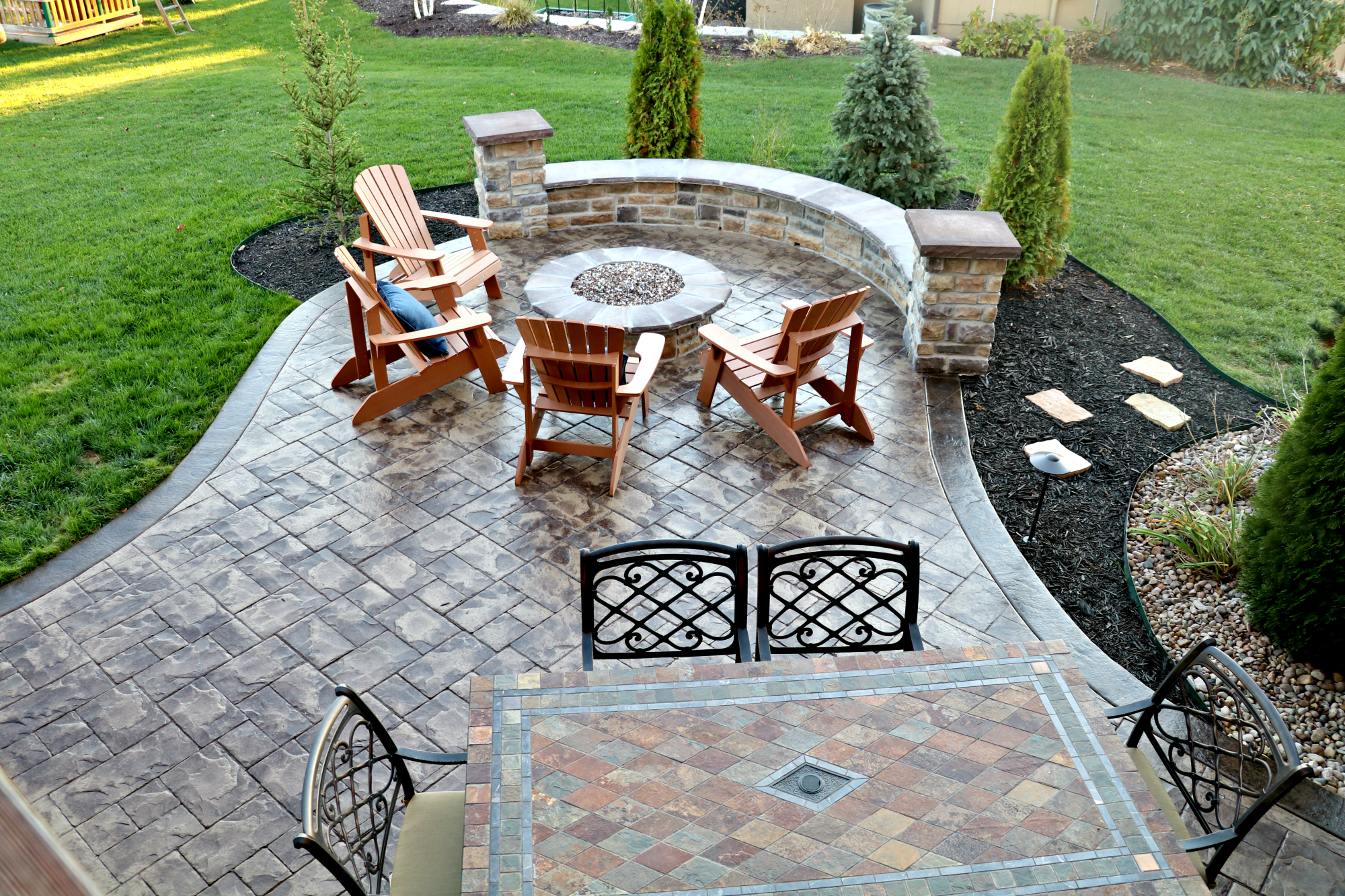 how beautiful is this stamped concrete patio kansascity kc