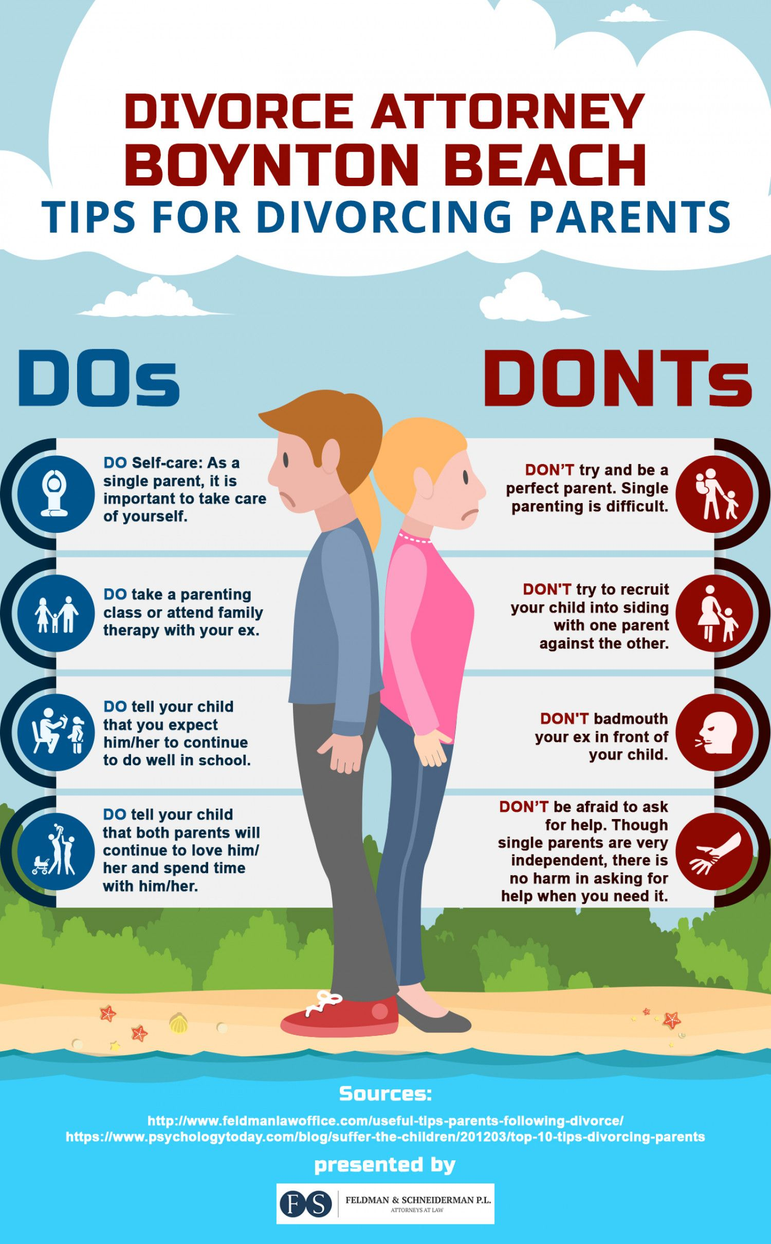 Dos Amp Don Ts For Divorcing Parents Infographic