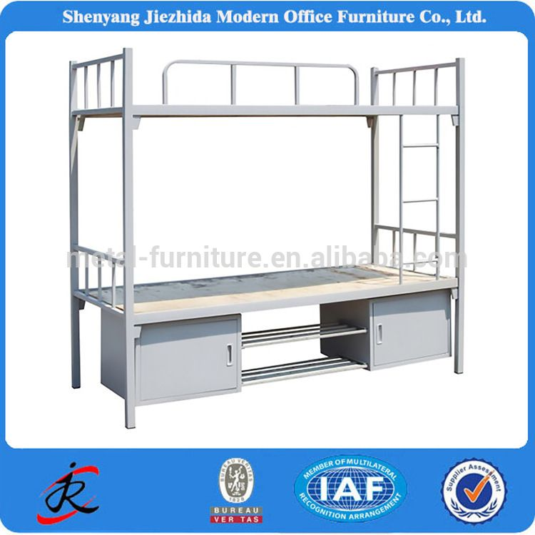 adult double deck bunker bed college dorm cots iron steel metal loft beds and bunk beds - Metal Frame Loft Bed