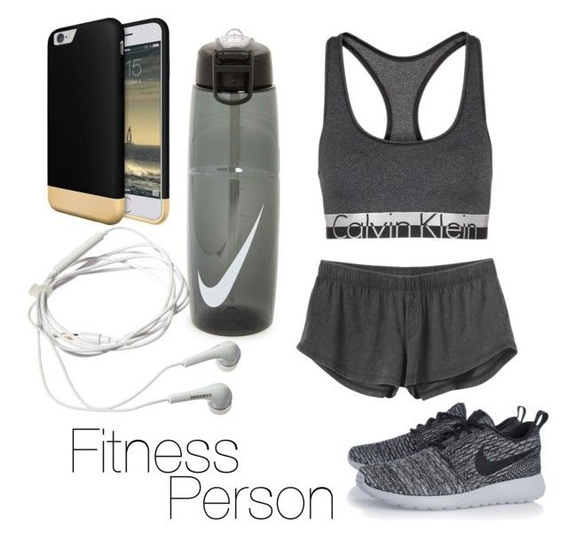 """Fitness person "" by denitsaa on Polyvore featuring Calvin Klein, RVCA, NIKE, Samsung, women's clothing, women, female, woman, misses and juniors"