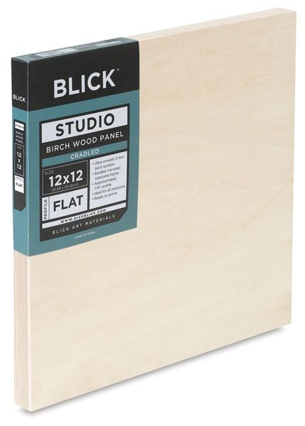 BLICK birch wood panels - cradle depths include 7/8