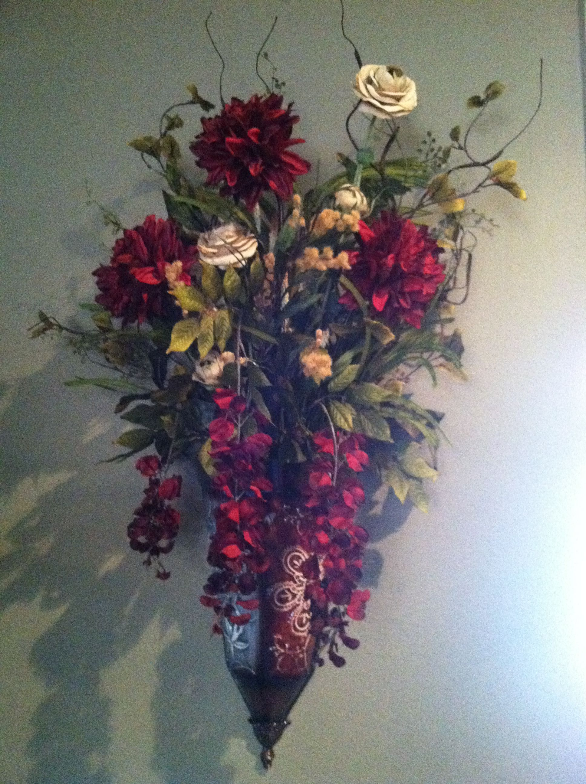 Wall flower sconce   For the Home   Pinterest on Wall Sconces That Hold Flowers id=34315