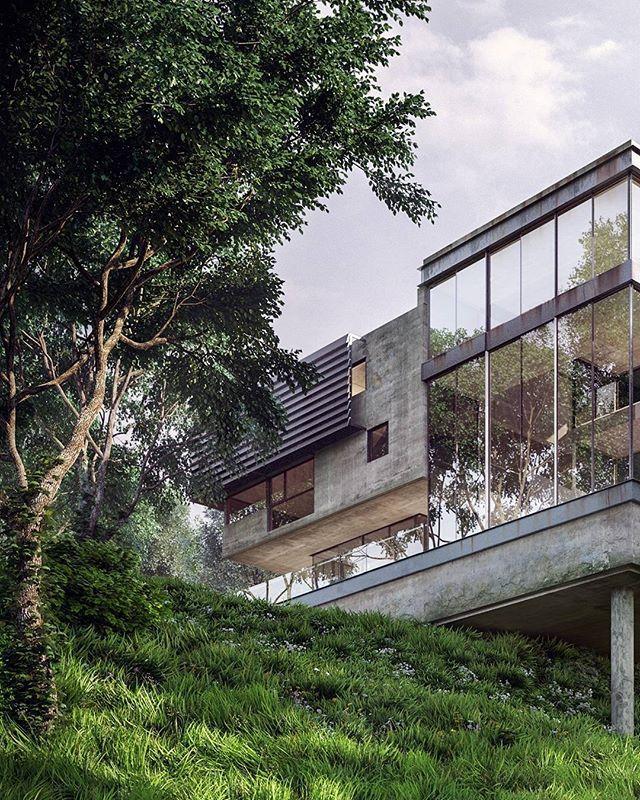 Old forest house viz by victor serdobintsev modern truetagsapp design decoration