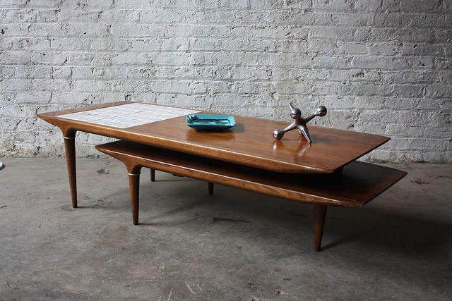 Rare Lane Swivel Pivot Boomerang Mcm Walnut Coffee Table U S A 1960 By Kinzco Via Flickr
