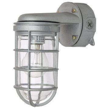 Amazon Com Sunlite Vta100 5 5 Inch 150 Watt Vapor Proof Vandal Proof Outdoor Fixture Metallic Finish Clear Gla Clear Glass Jars Metal For Sale Porch Lighting