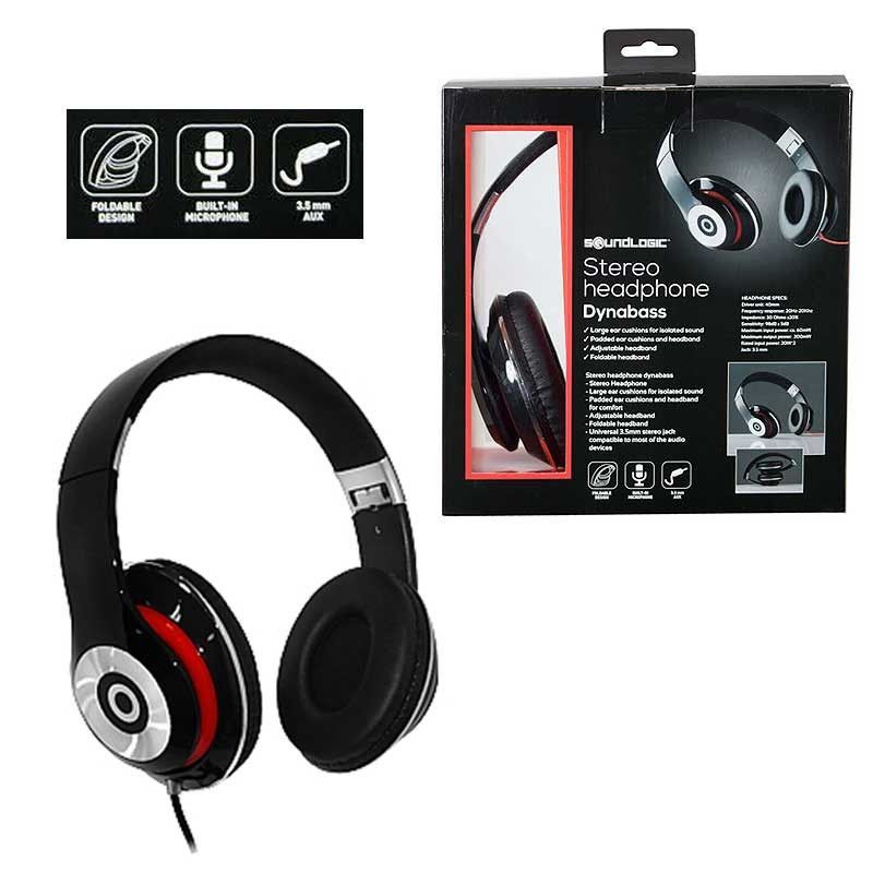 920c60001b8 SoundLogic Dynabass Stereo Headphone With Built-in Mic | Headphones ...