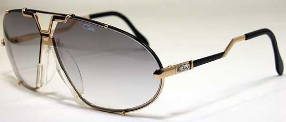 894aa8415b CAZAL 906 AVIATOR SUNGLASSES SHINY BLACK GOLD AUTHENTIC