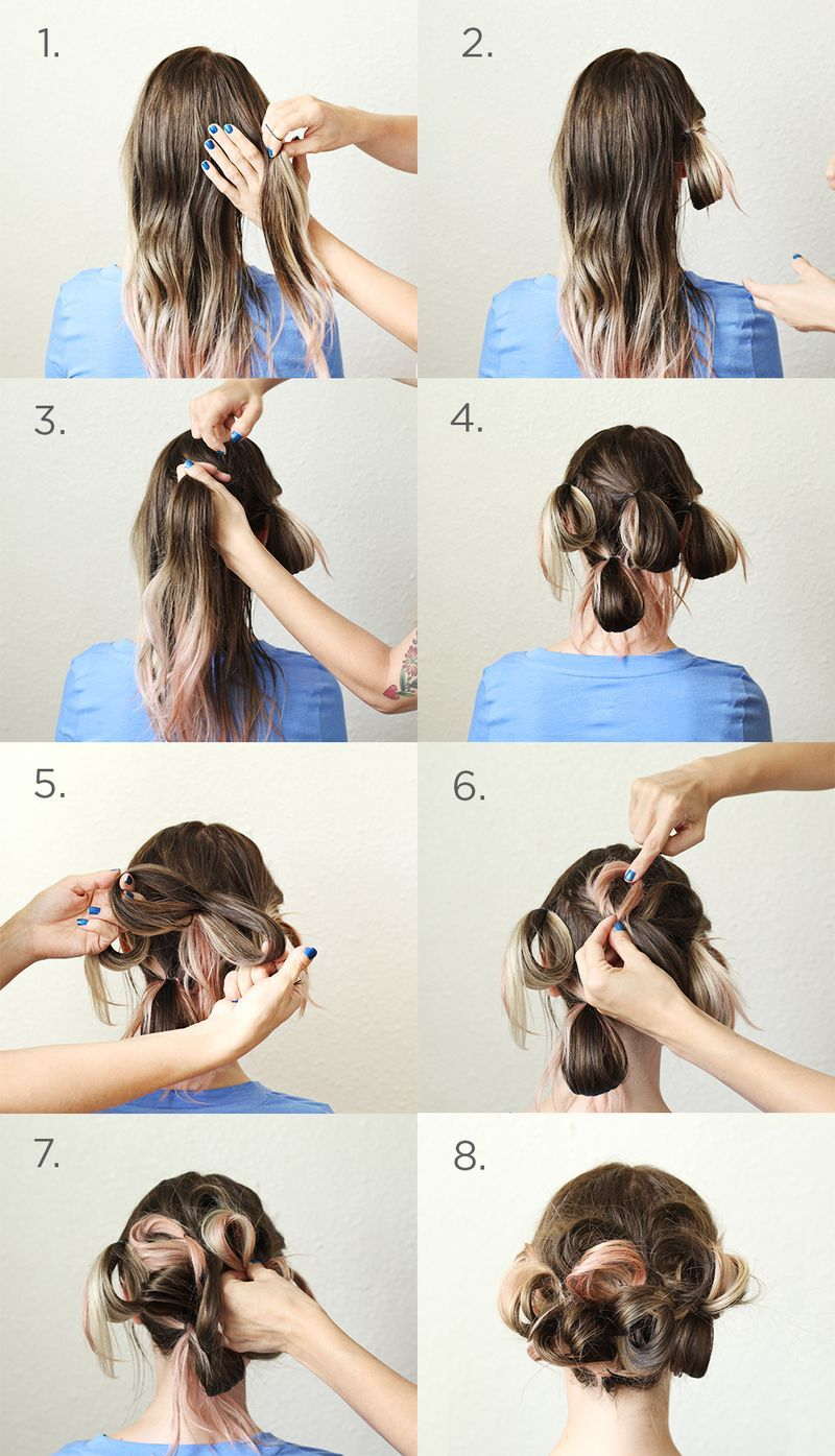 A simple pretty updo simple updo updo and hair steps