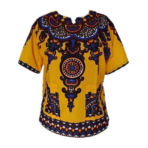 Dashiki New African Clothing Traditional Print Tops Design