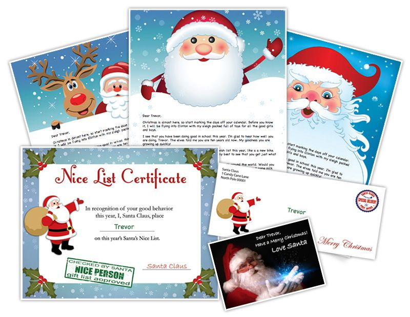 printable letter from santa christmas pinterest printable
