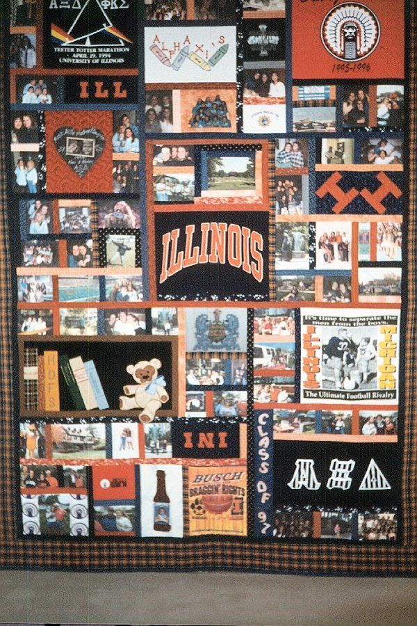 College Graduation quilt made by Irene Mueller for Karen Mueller ... : graduation quilts ideas - Adamdwight.com