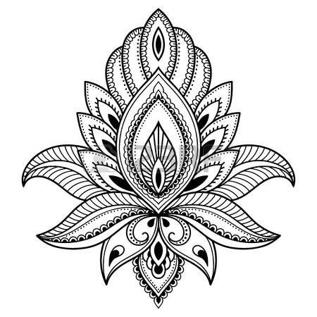lotus flower tattoo designs: Henna tattoo flower template in Indian ...