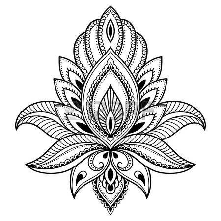 lotus flower tattoo designs Henna tattoo flower template in - tattoo template