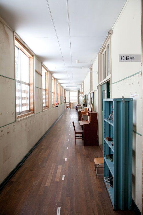 A Cosy Hallway Of A Japanese School Japanese School Design