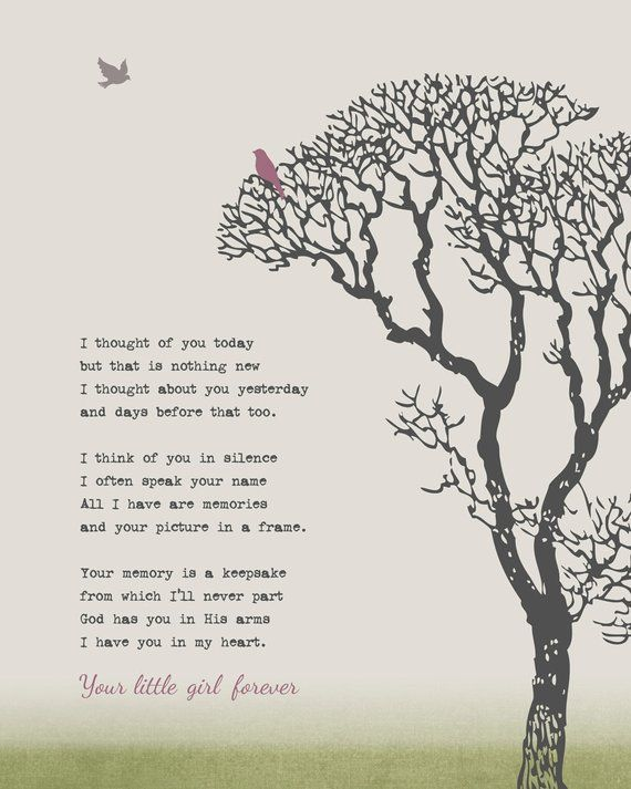 Remembrance Family Tree Grief Grieving Art Print Memorial Loss Loved One In Memory Sympathy Gift 8 x
