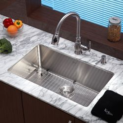 30 Kitchen Sink Picture Kraus Inch Undermount Single Bowl Stainless Steel Fits Base Cabinet 370
