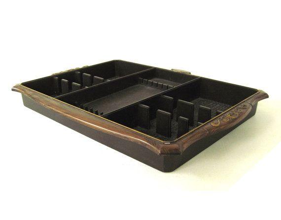 Brown Flatware Organizer Silverware Tray by LaurasLastDitch