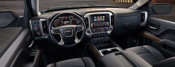 The Interior Of The 2015 Gmc Sierra Pickup Truck Is Crafted With Attention To Detail And Premium Materials Gmc Denali Gmc Sierra Denali Gmc Sierra 1500