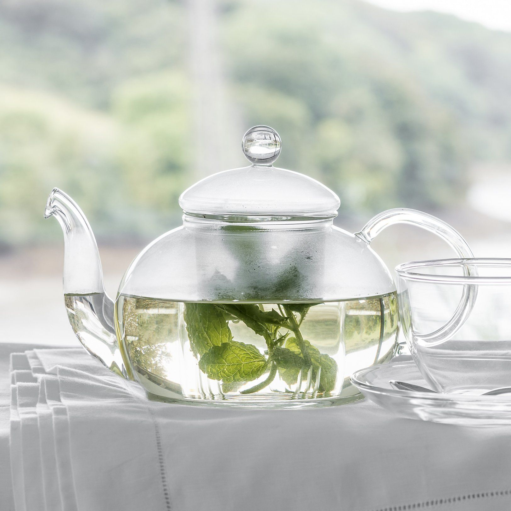 Glass Teapot Glassware The White Company Glass Teapot Tea Pots Glass Tea Cups