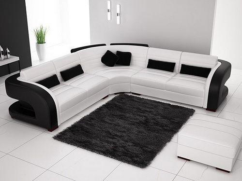 Leather Sectionals Black And White Corner Sofa Living Room Modern Sofa Designs White Sofa Set
