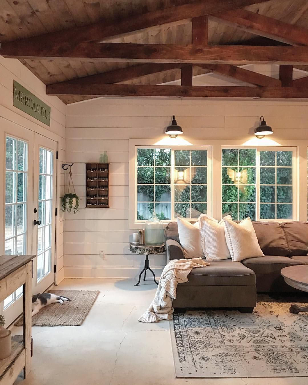 Natural Living Room Design Ideas: Shiplap Walls, Wood-clad Ceilings, And An Abundance Of