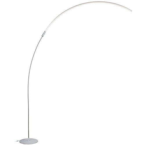 Brightech Sparq Led Arc Floor Lamp Curved Contemporary