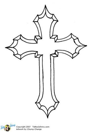 Gothic Cross Stencil Graphics Code
