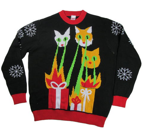 Karl Lagerfeld's Monster Choupette lasercatzilla sweater
