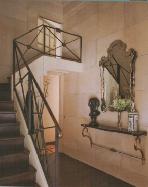 Gorgeous Staircase Railing And Entry By Jean Louis Denoit Via Mark D Sikes