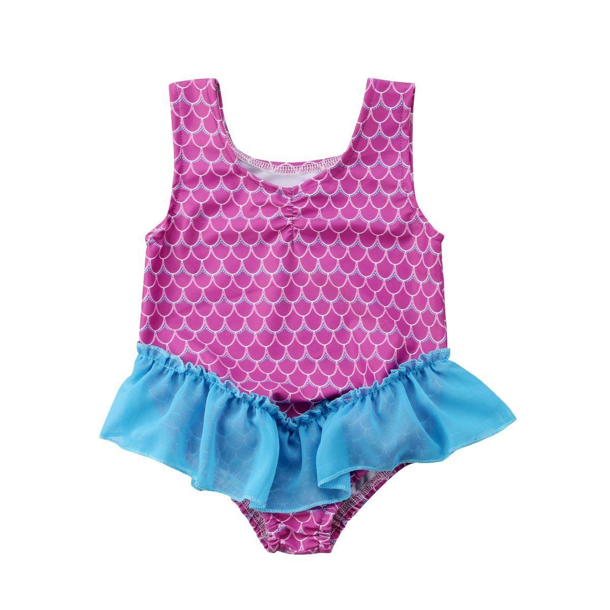 Infant Toddler Girls Summer Swimwear Bathing Suit for 6-24 Months Cartoon Print Tassel Bikini Beach Swimsuit Set