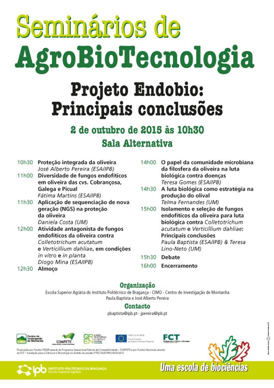 Seminários de AgroBioTecnologia - Projeto Endobio: Principais conclusões