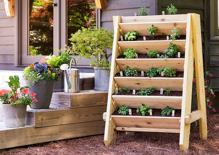Herb Garden Planter Ideas Part - 19: Diy Herb Vertical Planner DIY :tutorial To Build A Vertical Herb Planter In  Vertical Garden Planter 2 With Vertical Planter Herbs