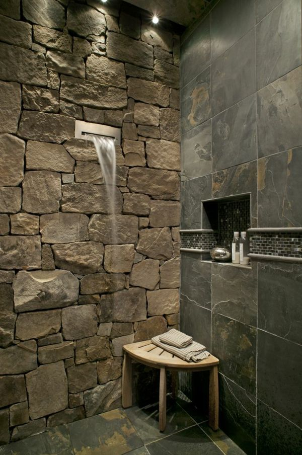 Voici Les Plus Belles Salles De Bain En 55 Photos! | BATHROOM / SALLE DE  BAIN (SDB) | Bathroom, Stone Bathroom Et Shower Tile Designs