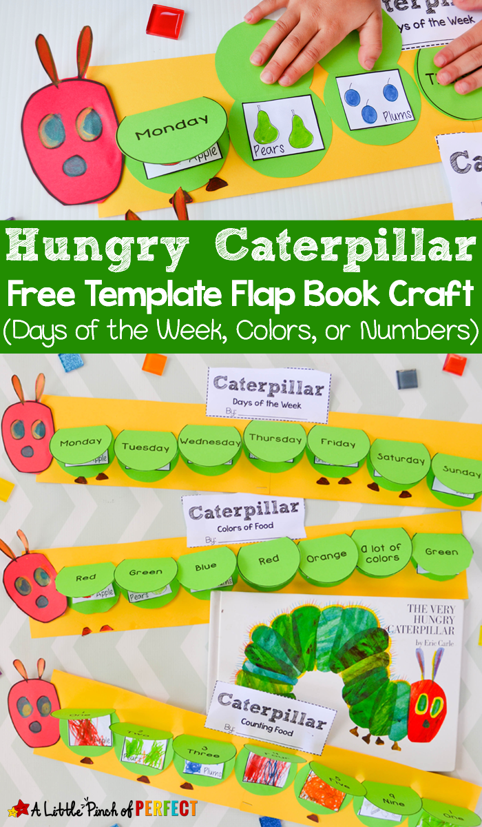 Hungry Caterpillar Flap Book Craft and Free Template - | A Little ...