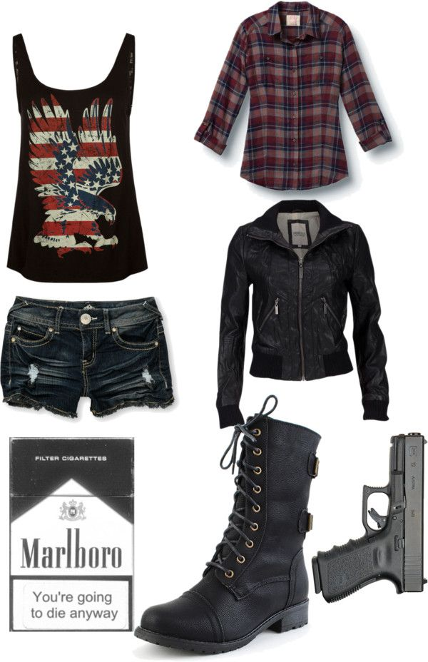 """I don't often pin entire outfits, but when I do, it's zombie related ;P - """"The Walking Dead Outfit No.9"""" by indierosalie ❤ liked on Polyvore"""