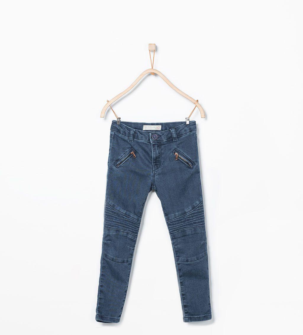 Skinny Moto Jeans Jeans Girl 3 14 Years Kids Zara United States Skinny Denim Pantalones