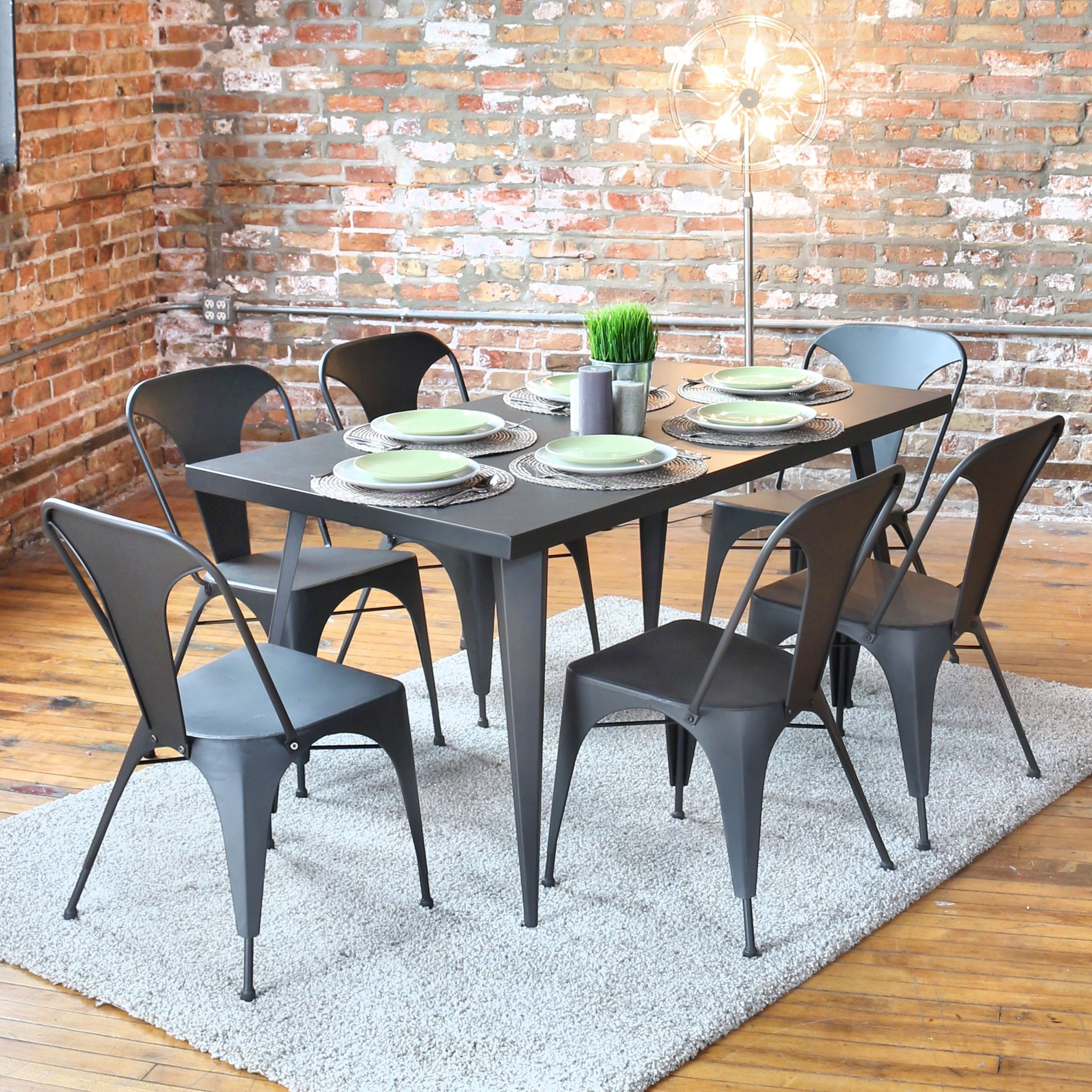 LumiSource Austin Dining Table & Reviews | Wayfair | Office table ...