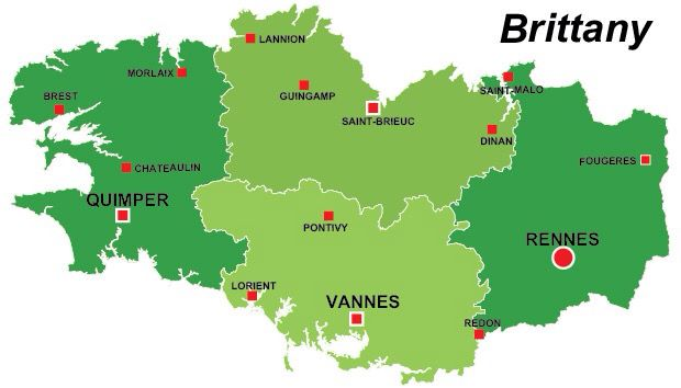 Rennes Map Of France.Brittany Faces Of People Part 1 6 Brittany France Map France