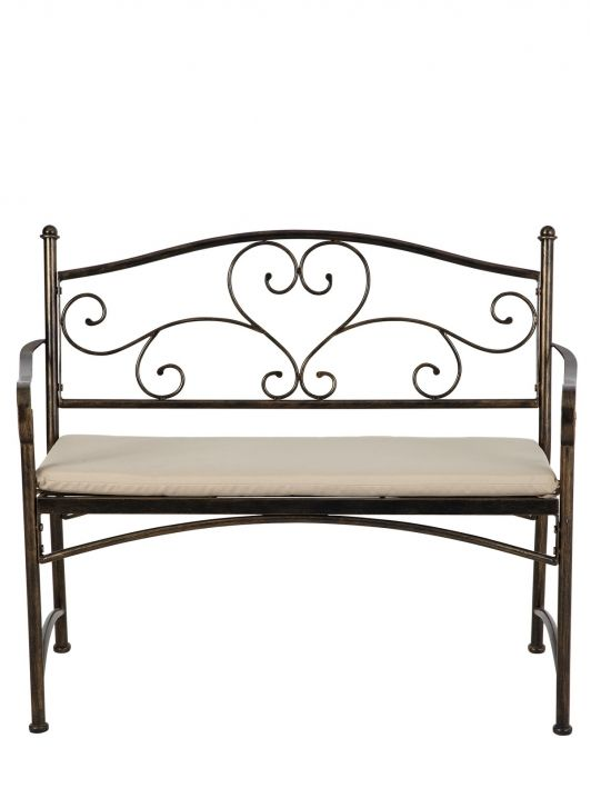 Sorrento 2-seater Steel Bench | Littlewoods.com - Home and ...