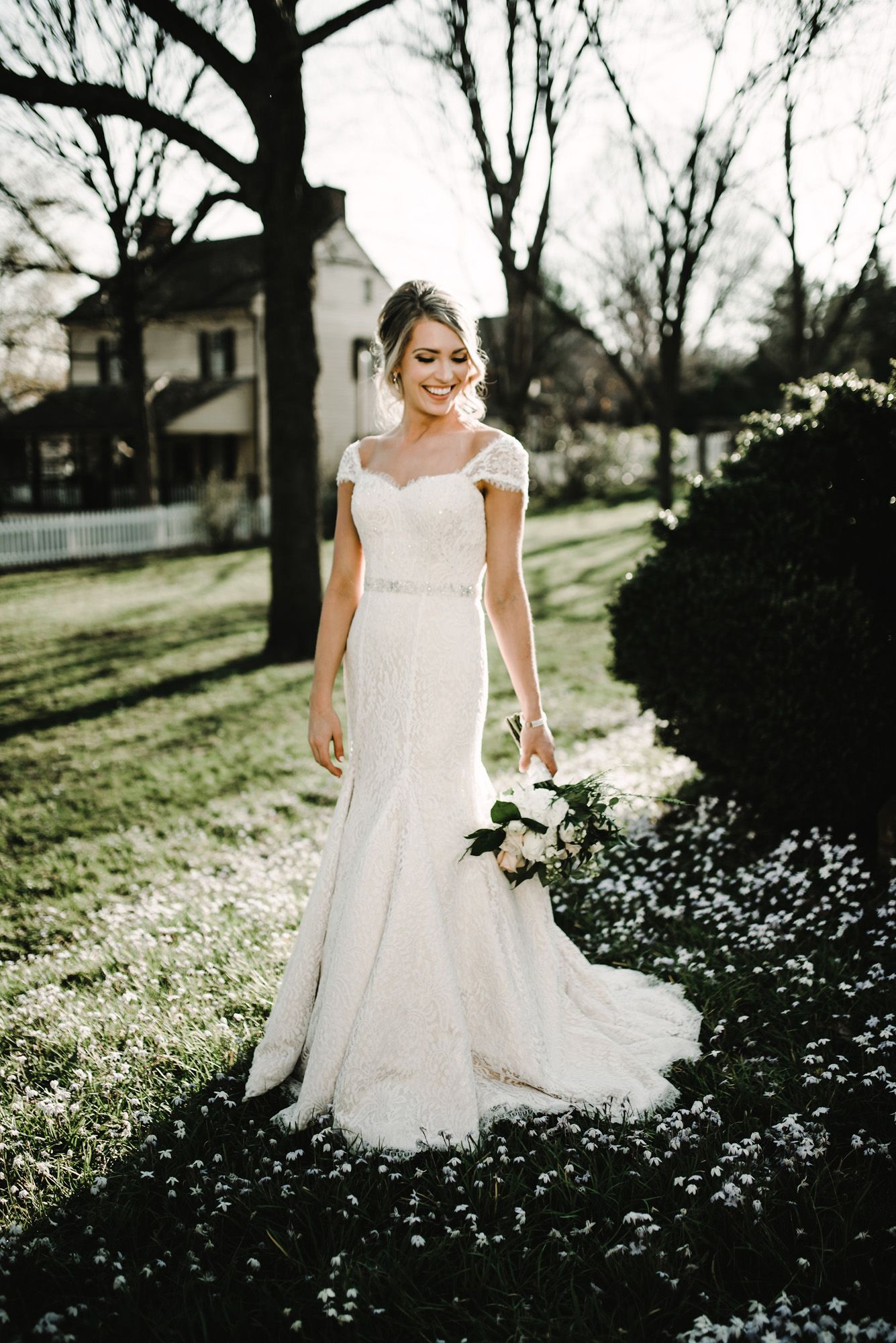Fall outdoor wedding dresses  Spring bridal portrait ideas outdoor bridal pictures modern bride