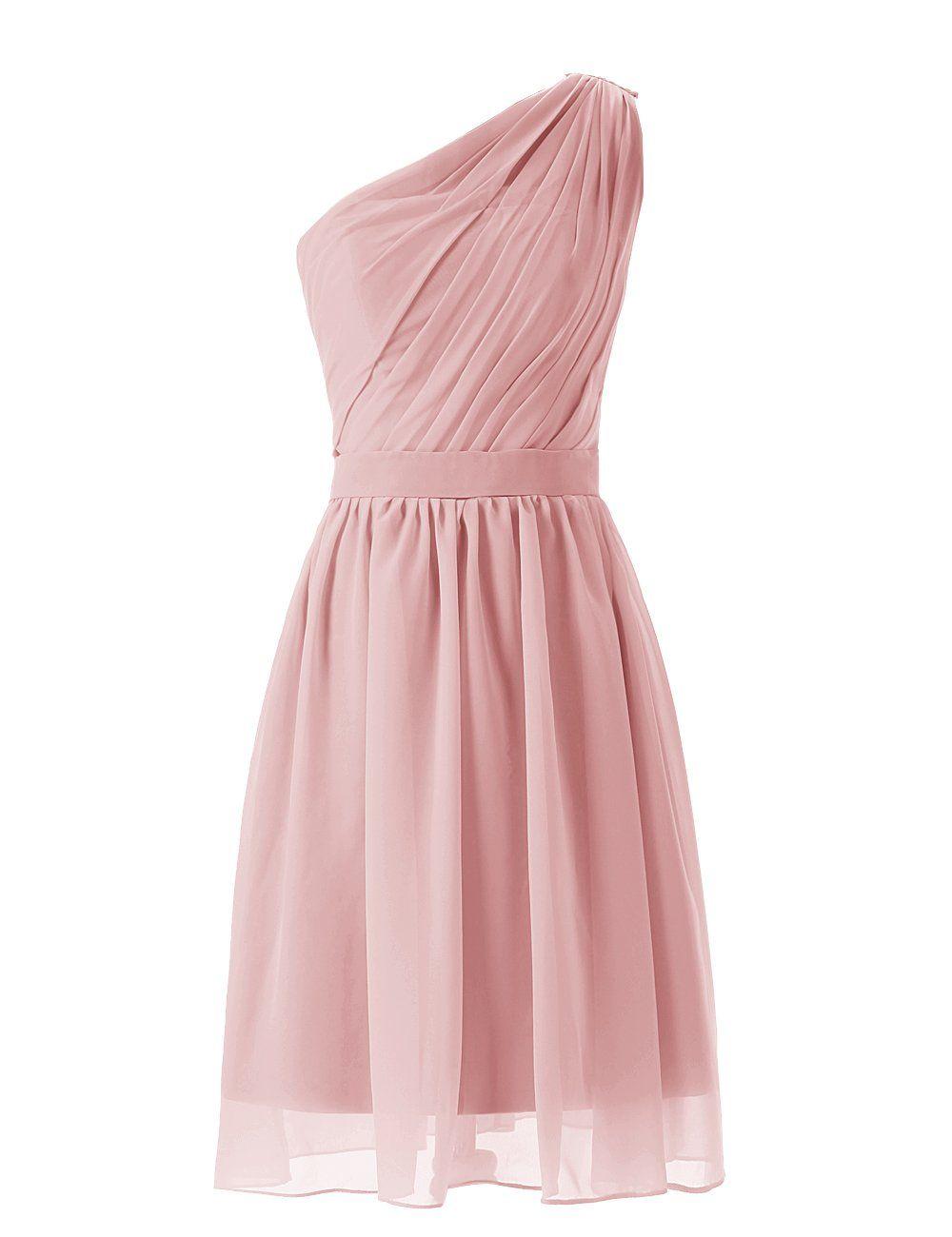 Dresstells short oneshoulder mint bridesmaid dress party dresses