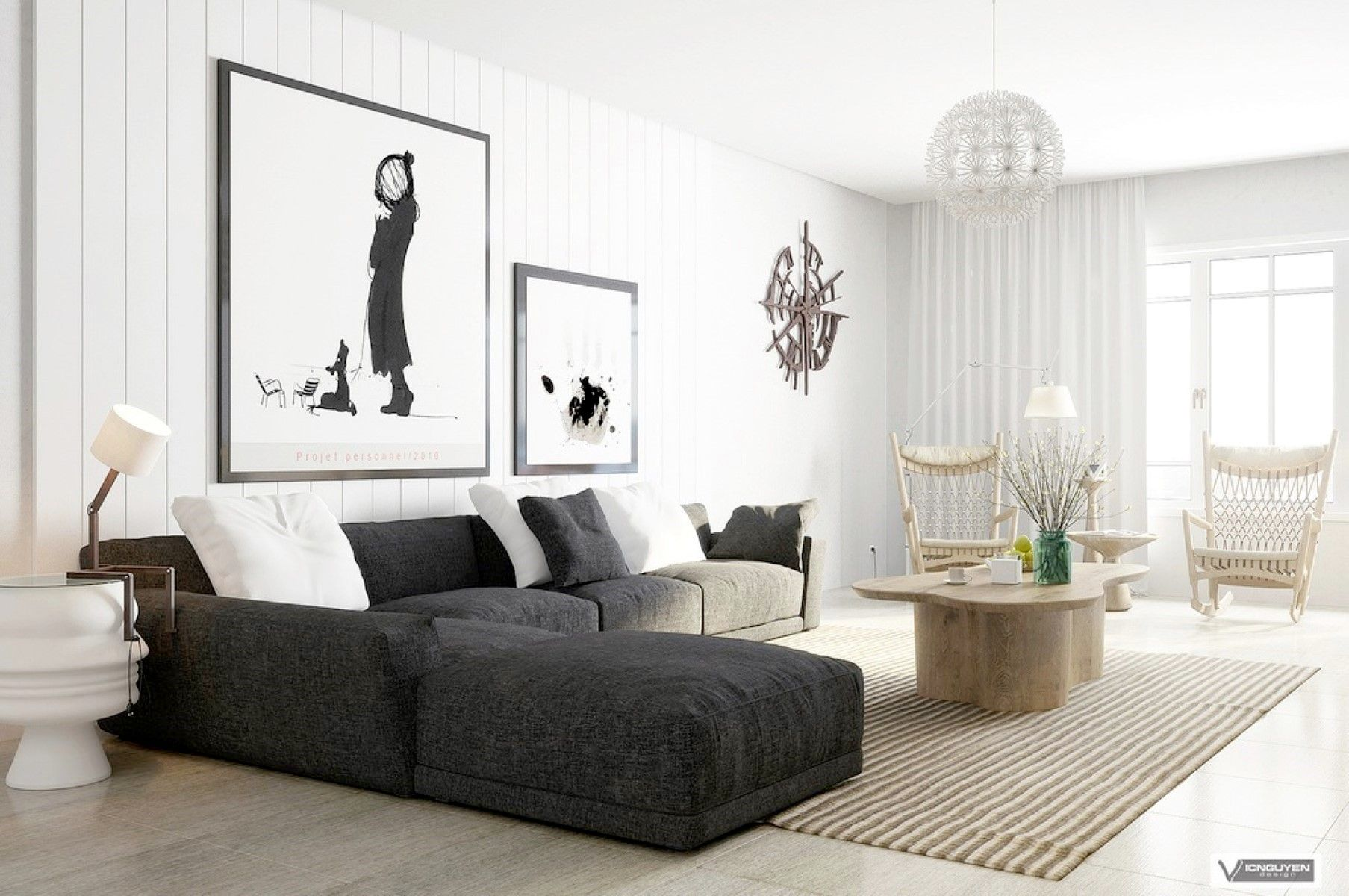 Modern Comfortable Home Livingroom Furniture Spectacular Dark Grey Sectional  L Shaped Couch With Reversible Chaise And