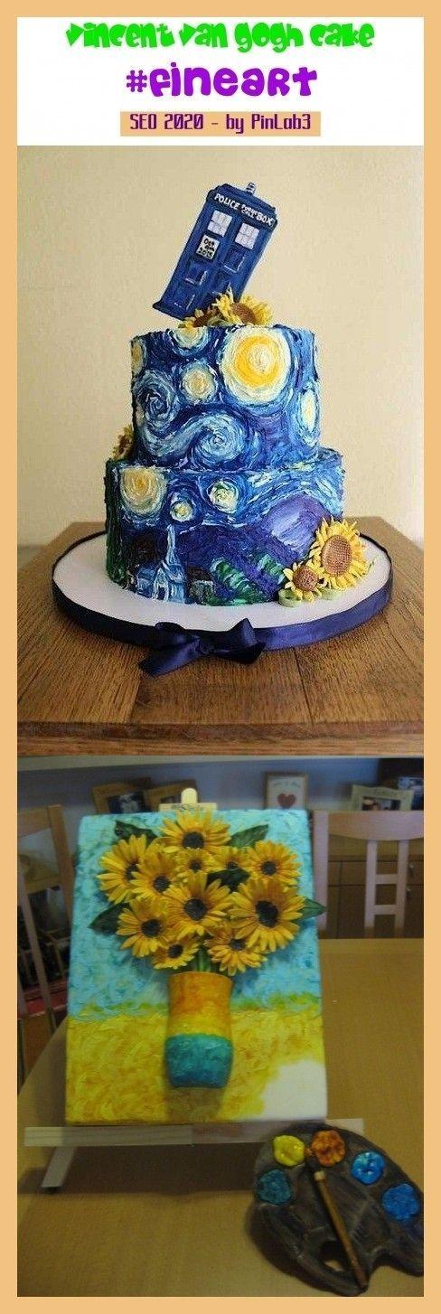 Vincent Van Gogh Cake Vincent Vincent Kuchen G Teau Vincent Van Gogh Kuchen Vincent Van Gogh Cake Vincent Vin In 2020 Gogh Cake Starry Night Van Gogh Vincent Van Gogh