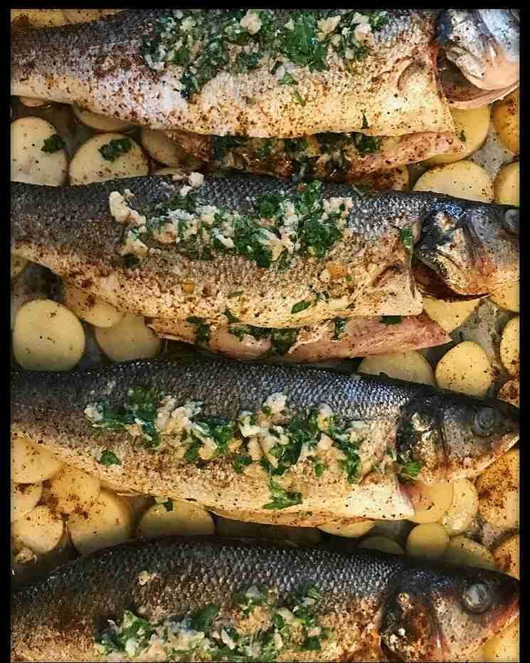 سمك لبراك في الفرن زاكي Main Dishes Food Dishes