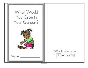 ***FREE*** This is an emergent reader, with a vegetable garden theme.  Cut and paste the sets of vegetables on the appropriate pages. Draw a set of vegetables on the last page. 9 pages