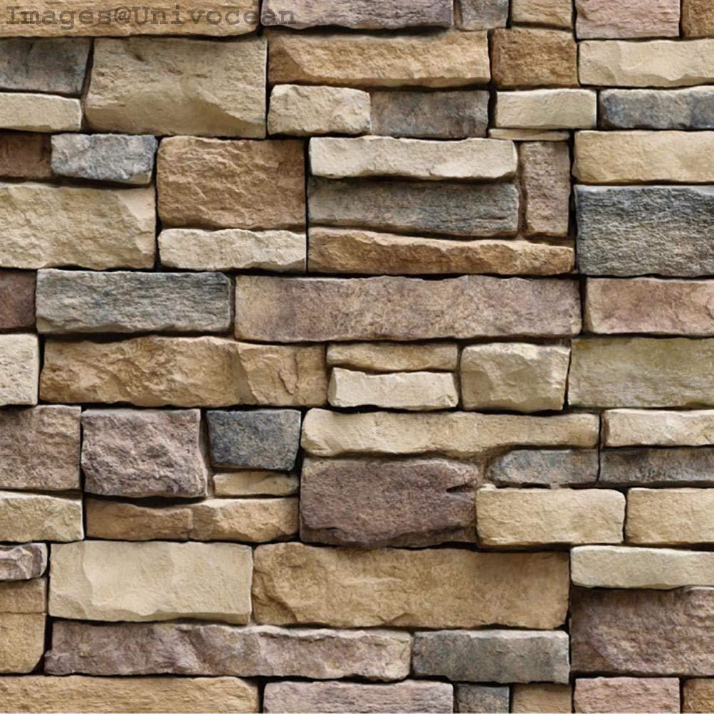 Univocean Modern Brick Stone Style Rustic Effect 3D Wall