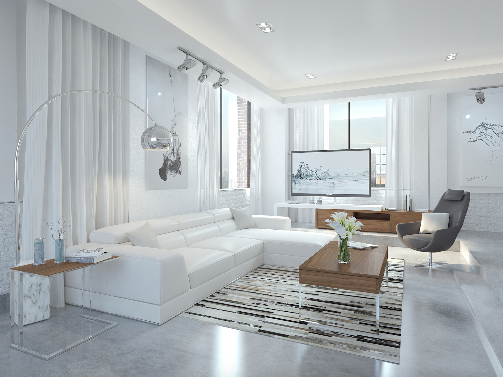 The Contempo Collection Living Room By Modani Furniture Apartment