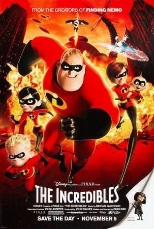 The Incredibles Movie poster Metal Sign Wall Art 8in x 12in